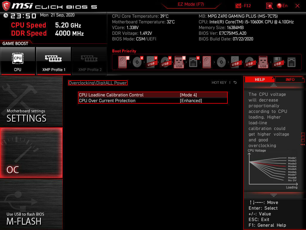 MSI click BIOS 5 DigitALL Power settings