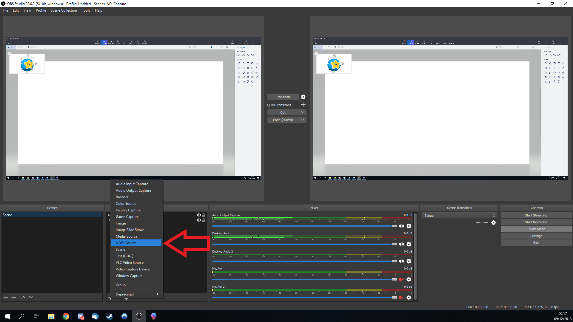Streaming and/or recording using OBS NDI Tutorial  - Evil's